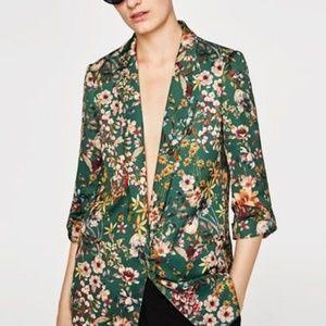New SS18 Zara Floral Print Blazer